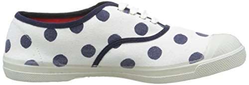 Bensimon Tennis Pois, Baskets Basses Femme Bleu (516 Marine)