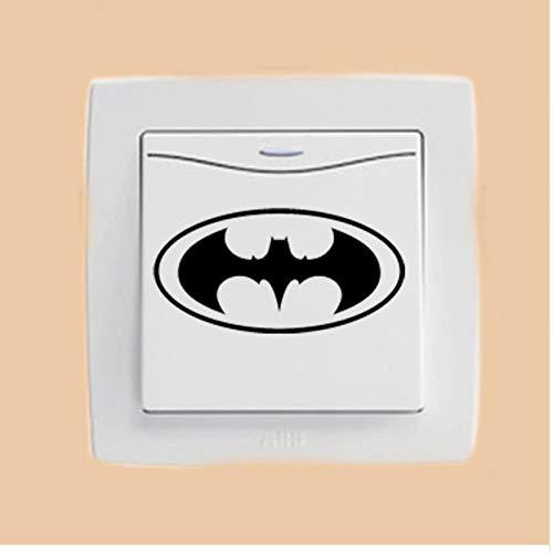 (WFYY Mode Wandaufkleber Coole Oval Batman Logo Vinyl Home Decor Aufkleber Schalter)