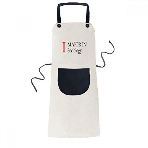 beatChong Ich Major Soziologie College-Student Kochen Küche Beige Adjustable Latzschürze Taschen Frauen Männer Chef-Geschenk