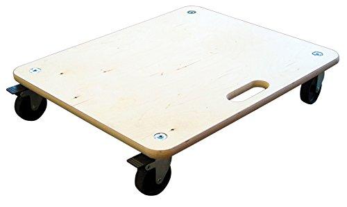 HSI 256120.0 Transportbrett mit Feststeller & harten Rollen Ø=100mm 200kg 60x50cm