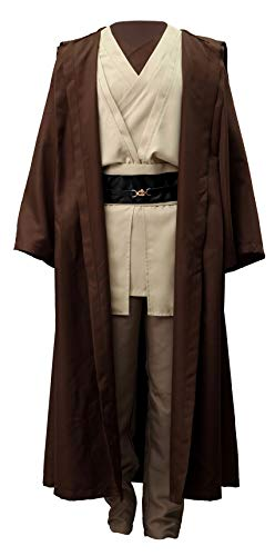 Chong Seng CHIUS Cosplay Costume Outfit for Jedi Master Obi-Wan Kenobi Version 1 (Jedi Knight Outfit)