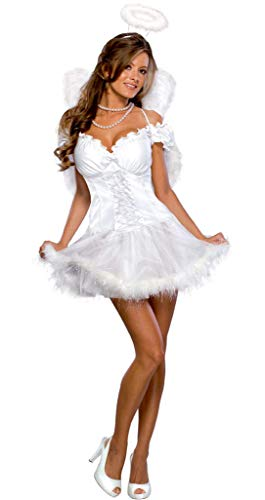 Rubie's Offizielles Kostüm für Damen, sexy, Engelsversandt, Größe (Für Erwachsene Himmlischen Engel Kostüm)