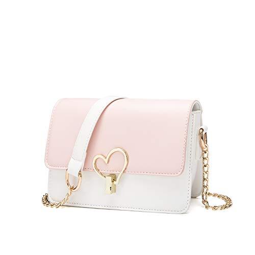 Kate Spade-strand-tasche (Umhängetasche - Joker Chain One Shoulder Fashion Tasche Pink + Weiß)