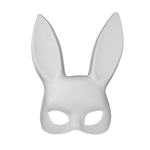 AGYE Maskerade Kaninchen-Maske - Für Weihnachten Party - Einheitsgröße,White (White Reaper Kostüm)