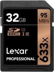 Lexar lsd32gcb1eu633 - scheda di memoria sdhc/sdxc uhs-i da 32 gb, classe 10, 95 mb/s (633x)