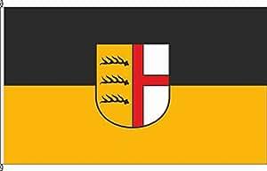 Königsbanner Tischfähnchen Rietheim-Weilheim - Tischflaggenständer aus Holz