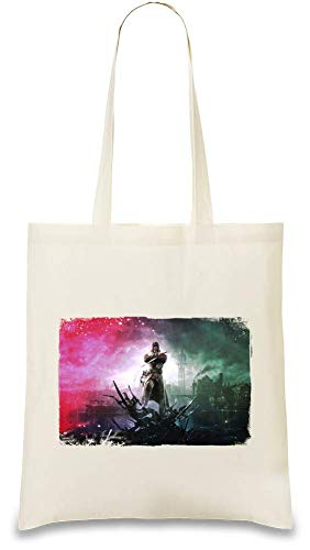 Das Messer von Dunwall World Dishonored - Dishonored The Knife Of Dunwall World Custom Printed Tote Bag  100% Soft Cotton  Natural Color & Eco-Friendly  Unique, Re-Usable & Stylish Handbag For Every