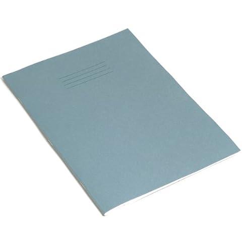 RHINO Notizblock A4 64 Seiten 6 mm liniert mit Rand Übungsbuch - hellblau (10 Stück)