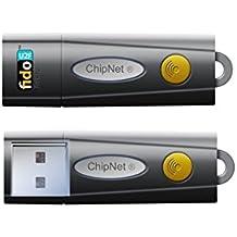 ChipNet Fido U2F Basic - Llave de seguridad USB para verificación en dos pasos, color negro