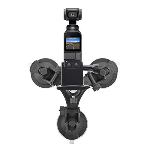 FiedFikt Saugnapf-Adapter für DJI OSMO Tube Bike Holder wasserdichte Gepäcktasche Top Phone Stand Pocket Stative Car Holder Mount -