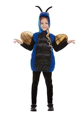 Smiffys 61002ML Gruseliger Käfer-Kostüm, Unisex, Blau, M bis L - Alter 8-12 - Käfer Kostüm Kind