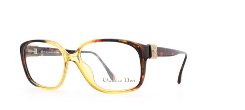 Christian Dior Damen Brillengestell Gold Gold Brown