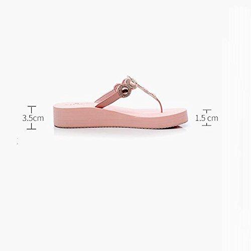 Estate Sandali Pantofole di modo Femmina Estate Slippery Piedi Spessore Bottom Pantofole Studente Sandali Scarpe da spiaggia Colore / formato facoltativo C-3.5cm