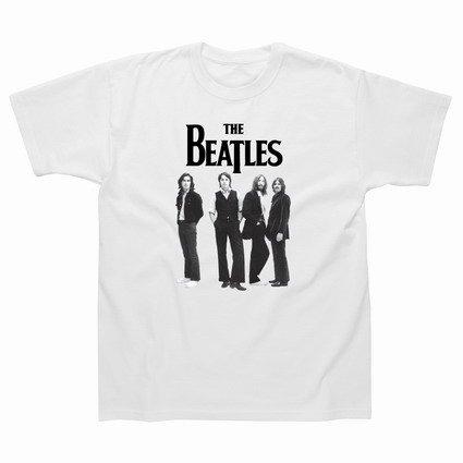 Preisvergleich Produktbild Spike Herren T-Shirt The Beatles, weiß, Gr. L
