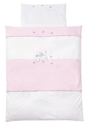 Facile 410 Parure de lit pour bébé 100 x 135 cm Lapin Rose