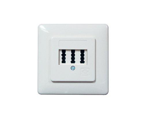 TAE-Dose Unterputz für 2 Amtsleitungen, NFF codiert - Standard Wall Plate Flush Mount