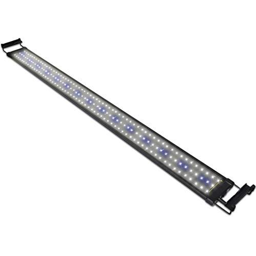 NICREW Luz LED Acuario, Lámpara de Acuario, Iluminación LED para Acuarios Plantados Lámpara LED para Peceras 116-136 cm, 32W, 7000K con Enchufe