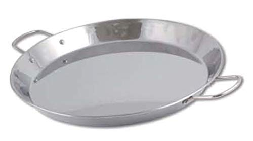 Chef Direct Stainless Steel Round Dish Paella Pan 30 cm (12 INCH) // Induction Friendly Spanish Rice, Valencian.