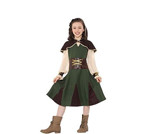 Smiffys Robin Hood Mädchen Kinderkostüm Karneval Jäger Mittelalter