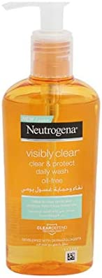 Neutrogena, Facial Wash, Visibly Clear, Clear & Protect, Oil-free, 2