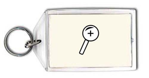 Schlüsselhalter mit der Grafik: Lupe 3