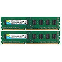 DUOMEIQI 8GB Kit (2 X 4GB) DDR3 1333MHz UDIMM 2RX8 PC3-10600 240pin CL9 Memory 1.5v Unbuffered Non-ECC Dual Channel Desktop RAM Module for Intel AMD System