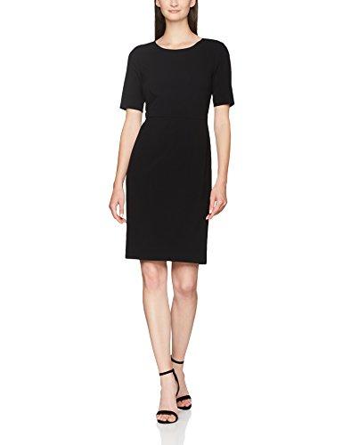 SELECTED FEMME Damen Kleid SFLAMIRA 2/4 AK Dress NOOS Schwarz Black, 36 - Dress Fit-n-flare