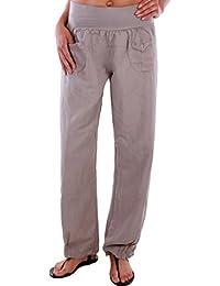 BD Damen Hose Leinenhose Aladin Pump Harem 100% Leinen Sommerhose bis Übergröße
