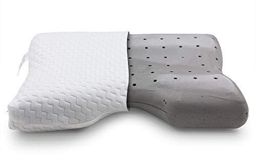 Prinz Nackenstützkissen Ergo Comfort mit Visco Kern & Lüftungskanälen - Kopfkissen für Seiten- & Rückenschläfer - Schlafkissen mit Ökotex Standard - Viskoelastisches Kissen
