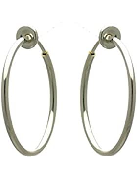 Cerceau 25mm Silber Hoop Ohrringe zum Anstecken