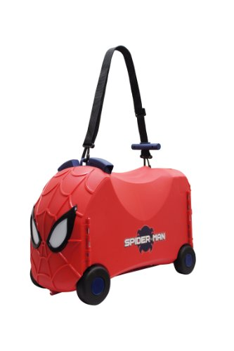 Disney Reisekoffer / Sitz-Trolley - Marvel Spiderman 4 Räder/ Kindergepäck Model 2015