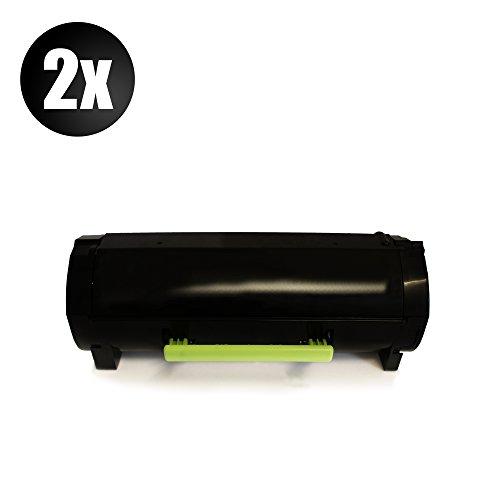 Preisvergleich Produktbild 2x XXL Eurotone Toner für Lexmark MS 310 410 415 510 610 dn dtn n d ersetzen 050F2000 / 050F2H00 - 502 H - Patronen Original EUROTONE ( ISO-Norm 19798 )