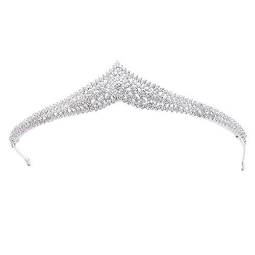 Kristall Zirkonia Hochzeit Brautschmuck Tiara Krone Diadem für Frauen Mädchen Haar Zubehör Jewelry S16269 (Tiara-haar-zubehör)