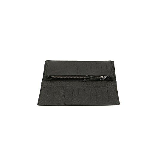 Chicca Borse Portafogli in pelle 20x10x4 100% Genuine Leather Nero