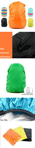 31WNWoctr8L - Set of 2 [GREEN] Camping/Hiking Twin-side Water-proof Backpack Rain Cover,45-55L