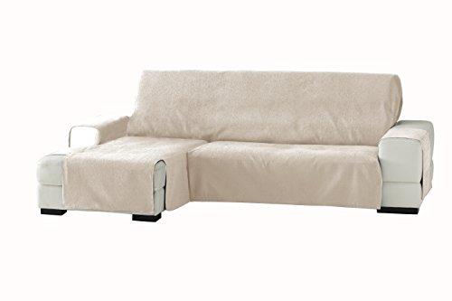 Eysa Italia Zoco Chaise Longue Sinistra Vista Frontale, Poliestere-Cotone, Beige, 290 cm