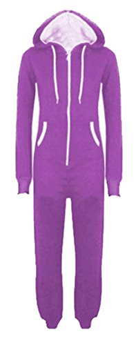 Xclusive Collection Damen A-linie Kleid, Einfarbig * Einheitsgröße Violett - Violett