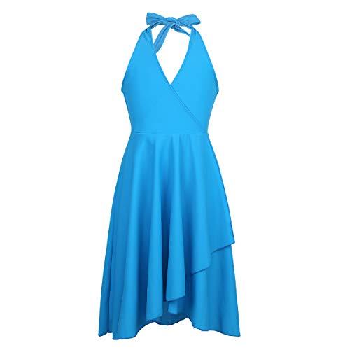 069a423eb Agoky Vestido Dancewear Latin Costume para niñas Vestido de Ballet Falda de  Fiesta Baile de salón