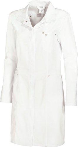 BP Damen-Mantel - langarm -  Gr:36,weiß (Langarm Kittel Für Damen)