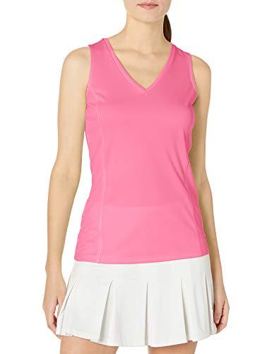 Grand Slam Damen Women's Core Sleeveless Tank Tops Tennis-Shirt, Massives Azalee-Rosa, Mittel