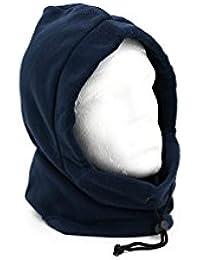 Adults Fleece Winter Snood Hood Neck Warmer - Black, Grey or Navy Blue