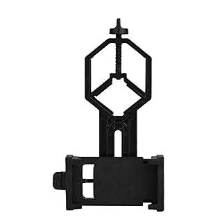 Queta Handy Teleskop Adapter Mount Mobile Device Holder kompatibel mit Fernglas Monokular Spektiv Mikroskop für iPhone, Samsung, HTC, LG und mehr