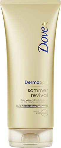 Dove DermaSpa Sommer Revival hell Body Lotion, 2er Pack (2 x 0.2 l)