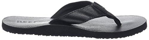 Reef Herren Leather Smoothy Zehentrenner Schwarz (BLACK / BLA)