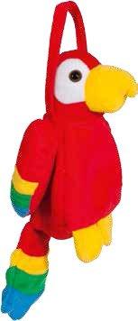 Papagei Tasche zum Safari Clown Kostüm Karneval Fasching