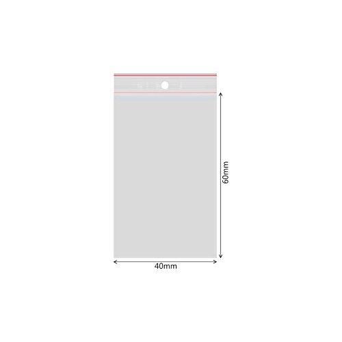10000 Verpacking Druckverschlussbeutel Polybeutel Zip-Beutel verschiedene Größen 40 x 60mm