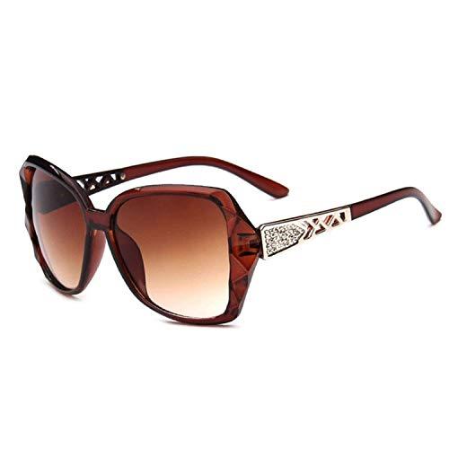 WERERT Sportbrille Sonnenbrillen Vintage Big Frame Sunglasses Women Gradient Driving Sun Glasses Uv400 Feminino