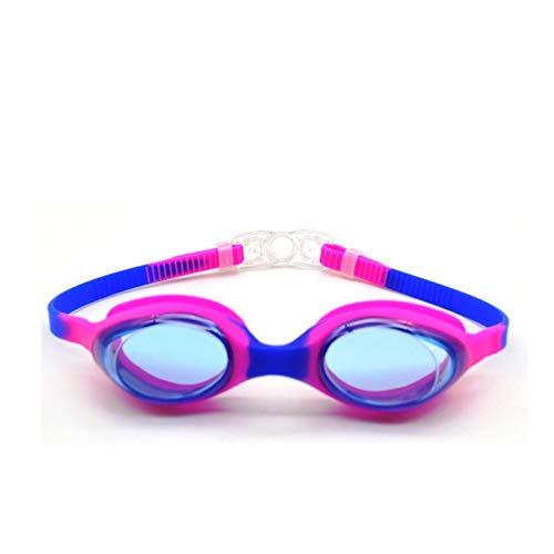 SWJJ Soft Seal Kinder Schwimmbrille Anti-Fog & UV Schutz & Schnelle Anpassung Verschluss Schwimmbrille Bunte Beschichtung (Alter 9-15 Jahre)