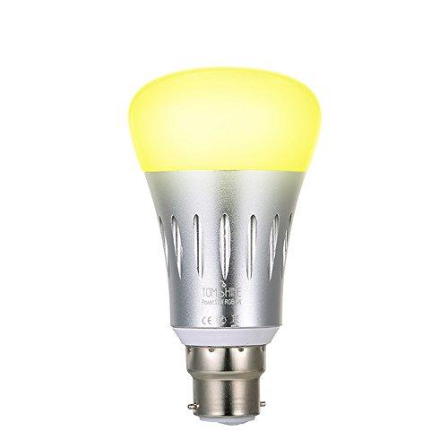 Tomshine Smart Leuchtmittel funktioniert mit Alexa Google Home kein Hub WLAN LED-Lampe B2211W RGBW Rgbw