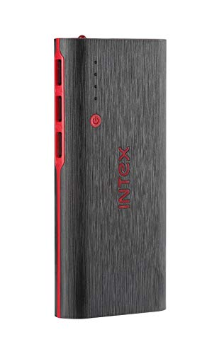 Intex IT-PB12.5K 12500 mAH Power Bank (Black-Red)